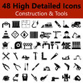 Construction and Tools Smooth Icons Royalty Free Stock Photo