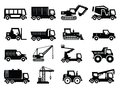 Construction transport icons Stock Photo