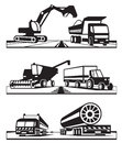 Construction transportation and agricultural vector illustration Royalty Free Stock Images