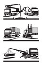 Construction transportation and lifting vector illustration Stock Photos