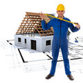 Construction virtuelle Image stock