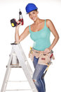 Construction woman. Stock Photography