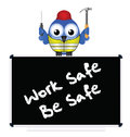 Construction work safe be message isolated on white background Royalty Free Stock Photography