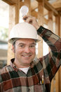 Construction Worker - Bright Idea Stock Photo