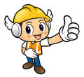 Construction worker character is to provide the best service Stock Photo