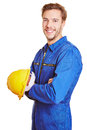 Construction worker with hardhat Royalty Free Stock Images