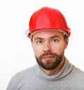 Construction worker in helmet. Stock Photos