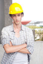 Construction worker on location Royalty Free Stock Photos