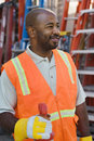 Construction Worker In Protective Workwear Royalty Free Stock Photography