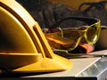 Construction worker's outfit Stock Images
