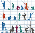 Construction workers and craftsmen Royalty Free Stock Photo