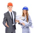 Construction workers group. Royalty Free Stock Photo