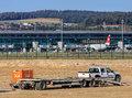 Construction works in the Zurich Airport