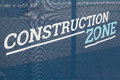 Construction Zone Banner Sign