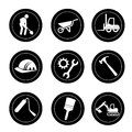 Constructions icons over white background vector illustration Stock Photos