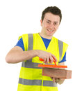 Constructor feliz Foto de archivo libre de regalías