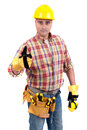 Constructor man isolated in white Stock Photography