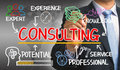 Consulting concept chart with business elements