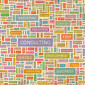 Consulting seamless pattern concept related words in tag cloud conceptual info text graphic word collage Royalty Free Stock Images