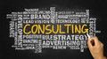 Consulting word cloud concept Royalty Free Stock Photo