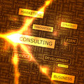 Consulting word cloud illustration tag cloud concept collage Stock Photo
