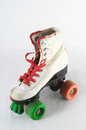 Consumed roller skate used vintage on a white background Royalty Free Stock Images