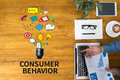 CONSUMER BEHAVIOR Royalty Free Stock Photo