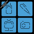 Consumer goods icon set Stock Photos