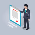 Consumer Rights and Businessman Illustration.