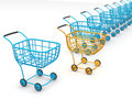 Consumer's baskets Royalty Free Stock Photography