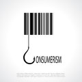 Consumerism poster symbol vector square Royalty Free Stock Image
