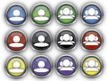 Contact button online in different colours Royalty Free Stock Photos
