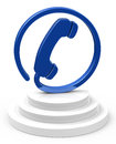 The contact d generated picture of a blue phone Royalty Free Stock Image