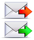 Contact email send icon Stock Image