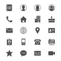 Contact flat icons simple clear and sharp easy to resize Stock Photography