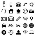Contact icon collection for business card Stock Image