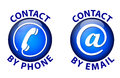 Contact icon on white background Royalty Free Stock Photo