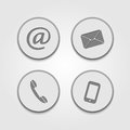 Contact icons this is file of eps format Royalty Free Stock Image