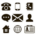 Contact icons set this is file of eps format Stock Photo