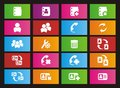 Contact metro style icon sets suitable for user interface Royalty Free Stock Images
