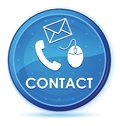Contact (phone email and mouse icon) midnight blue prime round button Royalty Free Stock Photo