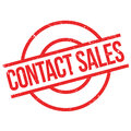 Contact Sales rubber stamp