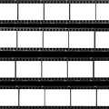 Contact sheet blank film frames Royalty Free Stock Photo