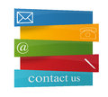 Contact signs commercial for business Royalty Free Stock Photos