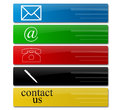 Contact signs commercial for business Stock Images