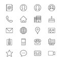 Contact thin icons simple clear and sharp easy to resize Royalty Free Stock Image