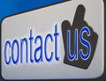 Contact us button shows help and guidance information Royalty Free Stock Images