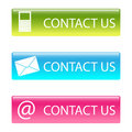 Contact us buttons Stock Image