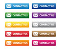 Contact us buttons Royalty Free Stock Photo