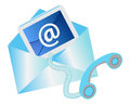 Contact us concept design with email symbol envelope telephone Royalty Free Stock Image